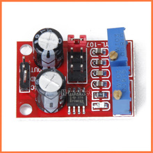 Free shipping Double knob NE555 pulse module (Adjustable duty ratio/adjustable frequency) Microcontroller pulse generator model