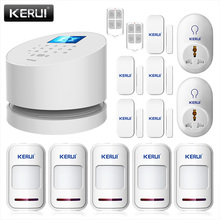 KERUI WiFi PSTN Home Burglar Fire Alarm System Sensor+Smart Socket+Wireless Door Magentic