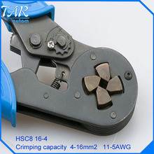HSC8 16-4 SELF-ADJUSTABLE CRIMPING PLIER 4-16mm2 terminals crimping tools multi tool(China)