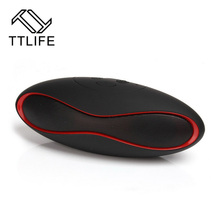 TTLIFE altavoz Bluetooth Full-range Speakers Rugby Shape Sound Box Support TF Cart U Disk FM Radio Waterproof Speaker With Mic