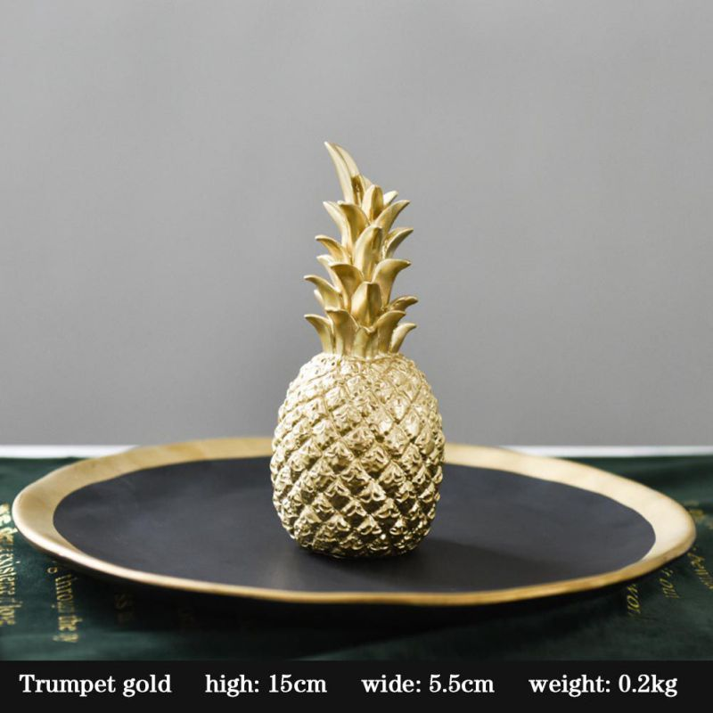 Original Nordic Modern Pineapple Fruits Living Room Wine Cabinet Window Desktop Home Decoration Furnishing Prop Accessories 6