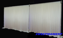 Hot Sale 3x6m(10feet x20feet) Wedding Backdrop Pipe & Drape Backdrop Stand with Curtain Stainless steel Frame with Backdrop