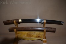 Unique Japanese sword samurai WAKIZASHI SWORDS rosewood saya 1095 high carbon steel full tang sharp battle ready