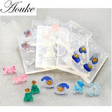 1PCS Many Kinds Shape glue UV bookmarks mold crystal epoxy clay clay flower color silicone mold Earrings decoration tool(China)