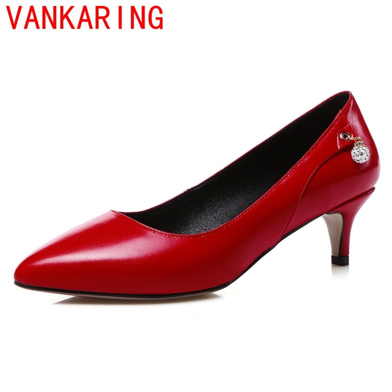 VANKARING shoes 2016 new arrival elegant dance party wedding medium heels women pumps spring autumn slip-on women office shoes<br><br>Aliexpress