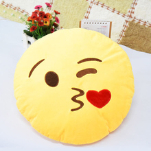 8 Different Kinds of Facial Emotion Avaliable Cute Soft Emoji Emotion Pendant Round Plush Toy Pillow Doll For Christmas Gift