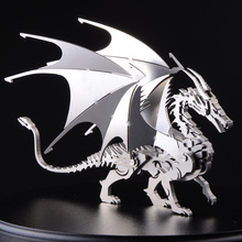 3D stainless steel metal crafts creative interior decoration decoration model dragon puzzle adult collectibles holiday gift