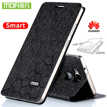Huawei Mate 7 case flip leather cover silicon back open window Huawei Mate 7 case ultra thin metal alumium cover glitter housing(China)