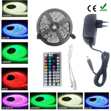 RiRi Won 10M 5M RGB LED Strip 60led/m 5050 waterproof colourful led light 10M 600 Leds RGB tape ribbon   +44 keys IR  controller