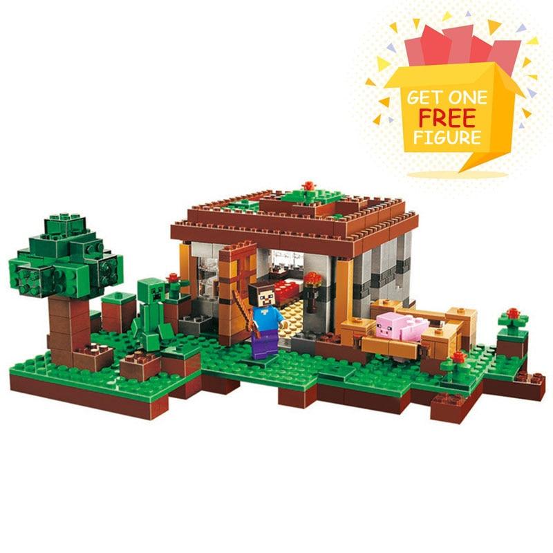 Bela Pogo Compatible Legoe Minecrafte My World Zombies Building Blocks Bricks toys for children<br>
