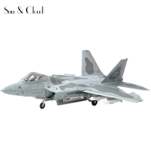 1:32 3D American Lockheed Martin F-22 Raptor Fighter Plane Aircraft Paper Model Assemble Hand Work Puzzle Game DIY Kids Toy(China)