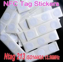50pcs Ntag213 NFC Tag Sticker 13.56MHz ISO14443A Ntag 213 NFC Sticker Tag Universal Lable RFID Tag for all NFC enabled phones(China)