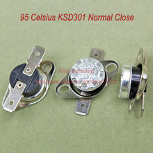 Buy 10pcs/lot KSD301 Thermostat Normally Normal Close 95 Degrees Celsius Thermostat Switches NC Temperature Switch for $3.42 in AliExpress store