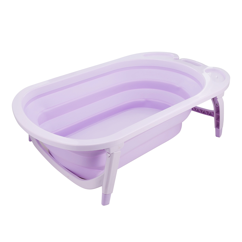 3 Colors Portable Folding Baby Bath Tub Large Size Anti-Slip Bottom Non-Toxic Material Children Bathtub Bucket for Baby Bathing (3)