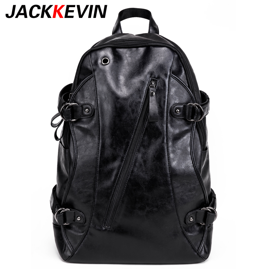 Mens backpack New Arrival 2017 Male Functional bags Fashion Men backpack PU Leather backpack big capacity Men bags Boys School <br>