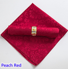 Red colour Table Napkins jacquard polyester Napkins for wedding hotel restaurant table decoration wrinkle stain resistant