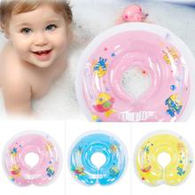 Random Color Baby Inflatable Circle New Born Infant Adjustable Swimming Neck Baby Swim Ring Float Ring Safety Double Protection