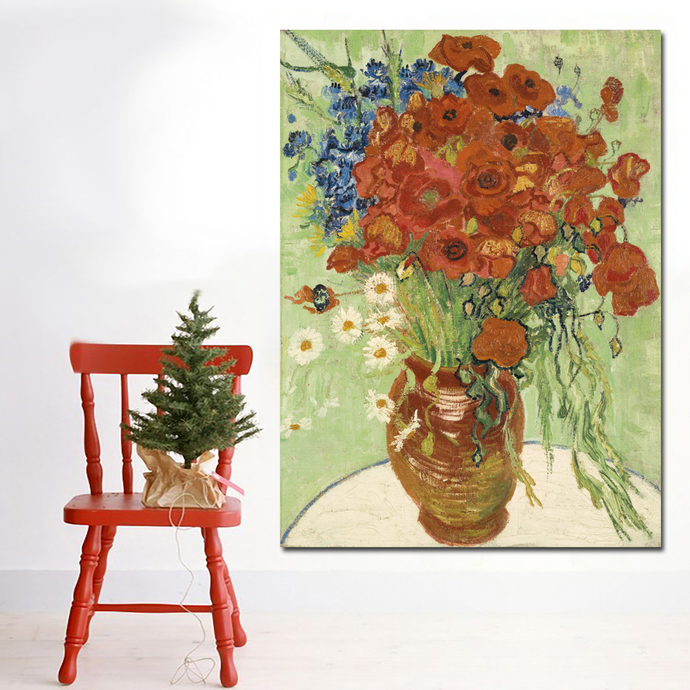Red Poppies and Daisies-70x95