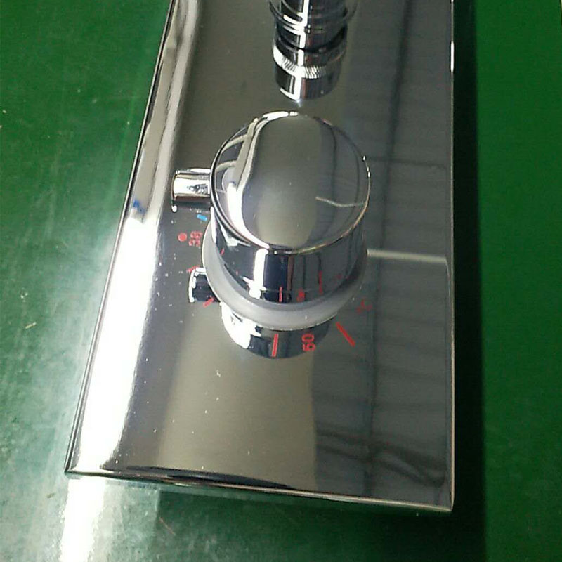 JMKWS 2 Functional Thermostatic Bath Shower Mixer Brass Chrome Controller Water Mixer Valve High Flow Bathroom Shower Switch 5