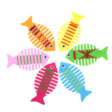 Colorful Cartoon Fish Toy Patience Thinking Hand Coordination Trainer String Line Around Fish Baby Learning Toys Kids Gift(China)