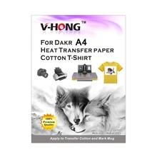 V-HONG Dark color cotton T-shirt sublimation paper clothes A4 heat transfer paper for inkjet printer 10sheets transfer paper(China)