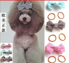 2016 Newest Wholesale Dog Accessories Hair Bows Small Pet Hairpin Cute Headwear(China)