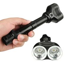 CREE T6 Dual XM-L LED Bulbs 1800 Lumens 18650 Flashlight Lamp Tactical Torch brightest flashlight cree xml t6 led 12v