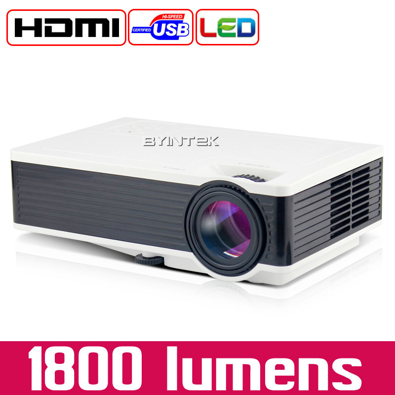 BYINTEK ML217 New USB 1800lumens Game Home Theater LED Digital Video Pico Mini Projector HD Proyector Projetor Beamer 1080P(China)