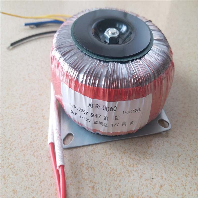 Toroidal transformer Ring copper custom transformer 54VA toroidal output 12VAC-0-12VAC + 12VAC for 1969 power supply amplifier<br>