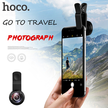 HOCO Original Clip-on Optic Cell Phone Camera Lens  0.65X 120 Degree HD Wide Angle Lens 15X Macro High Definition for iPhone 6