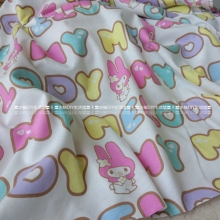 165*50cm Cartoon lovely Hello Kitty whit Melody knitted cotton fabric For Sewing diy Patchwork baby girl shirt clothes Bedding