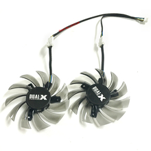2pcs/lot Firstd DC BRUSHLESS FAN 12V 0.35A 75mm 3X40mm 4Pin FD7010H12S Video Card Fan For HD7850 MSI R6790 N560GTX R6850