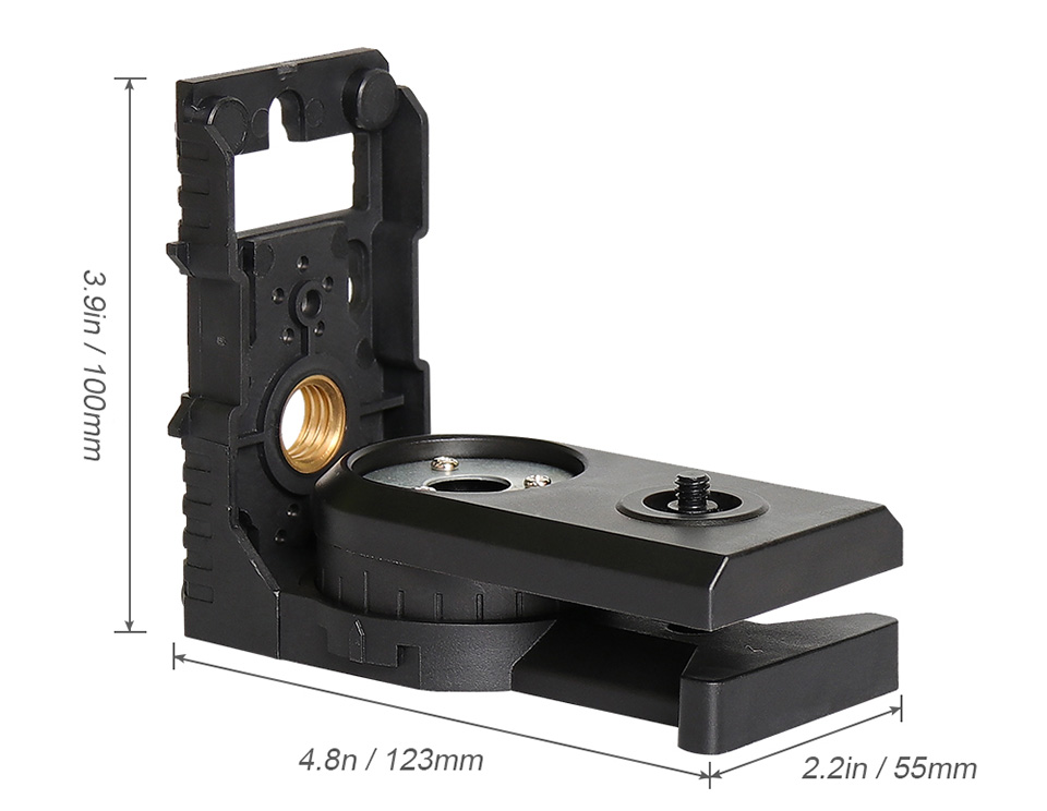 Anti-Slip L-shape Magnetic Bracket Leveling Laser Level Magnet Level Bracket
