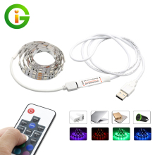 USB 5V RGB LED Strip 5050 60LEDs/m with 17Key RF Controller 50cm / 1m / 2m Set