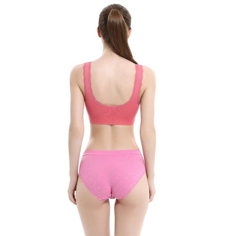 Women Sports Bra Sports Underwear Fitness Yoga Running Pad Cropped Top Sports Wear Tank Tops Anti-Sweat Lace Bra #3j#F (31)