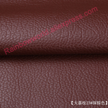 23#deep brown High Quality Giant Pebble PU Leather fabric like leechee for DIY sofa table shoe bags bed material (50*69cm/piece)