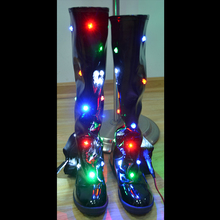 LED Shoes 2017 China Hot Sellers Glowing High Boots Night Club DJ Luminous Fashion Show Light Prop Dance Activity Accessories(China)