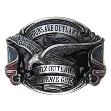 America Flags Eagle If Guns Are Out Lawed Only Out Law Will Have Guns Belt Buckle(China)