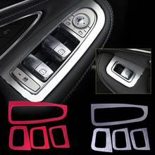Car ABS Interior Door Window Lift Panel Switch Cover Trim Mercedes Benz C-Class W205 C180 C200 C260 2015 2016 GLC-Class X205 - SiTao Parts Store store