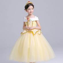 High Quality Girl Aurora Dress Children Sleeping Beauty Princess Costume Kids Belle Party Dress Girls Halloween Cosplay Clothing(China)