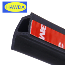 HAWDA 4Meter P type 3M car door rubber seal Sound Insulation , car door sealing strip weatherstrip edge trim noise insulation(China)