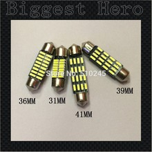 100x Big sales Wholesale Car led festoon 31MM 36MM 39MM 41MM light c5w 16 SMD led 16smd 4014 Auto led bulbs Free shipping(China)
