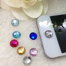 6pcs/set Exquisite 3D Diamond Rhinestone Home Button Sticker For iPhone 4 4S 5 iPod iPad with Best Price