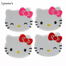 1 Piece silicone dining table placemat coaster kitchen accessories mat drink cup bar hello kitty mug cartoon(China)