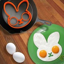 Creative Breakfast Silicone Fried Egg Mold Mould Cute Rabbit Pancake Egg Shaper Ring Non-stick Kitchen Tools
