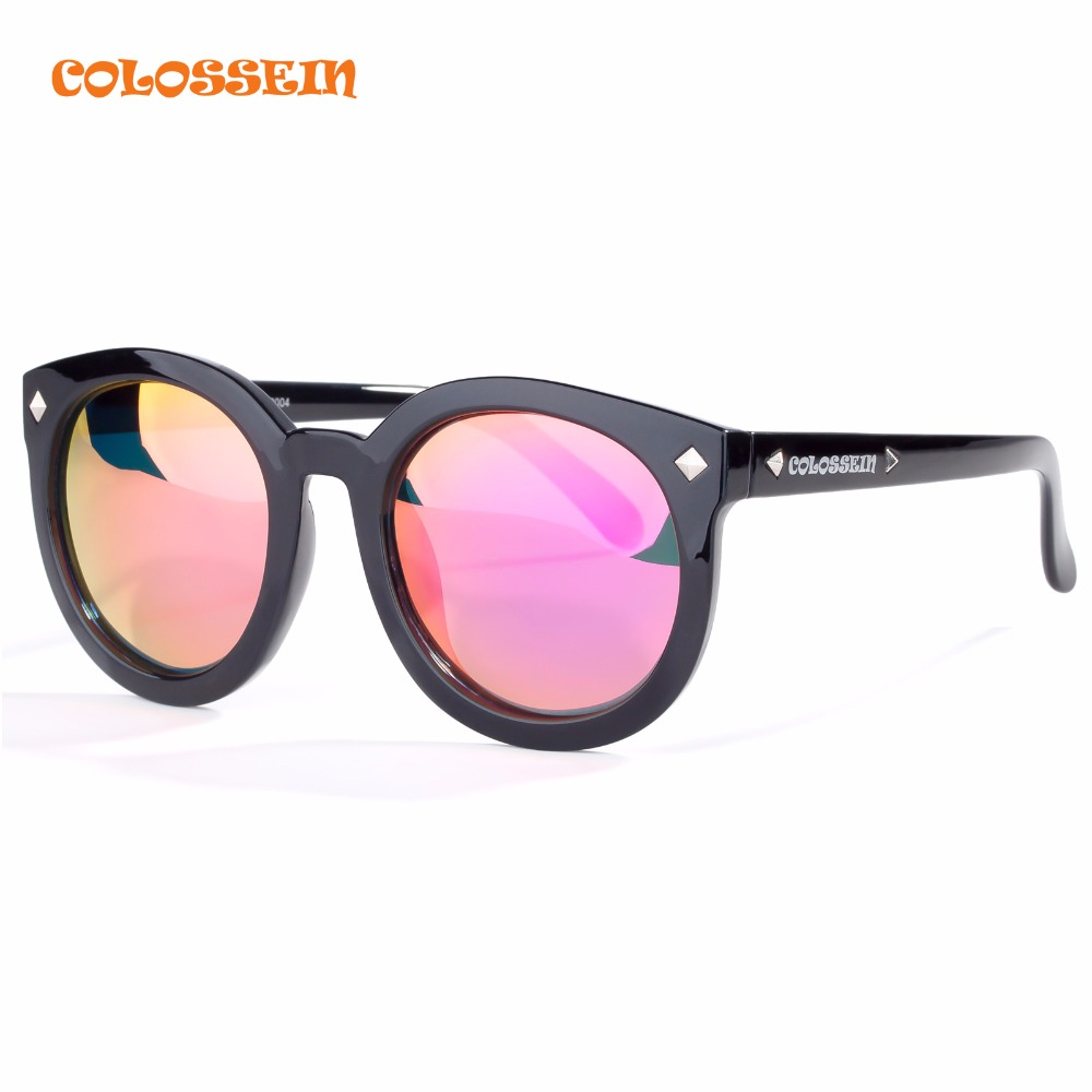 COLOSSEIN Orange Label Brand Women Fashion Sunglasses Rivet Trim With Mirror Polarized Lenses Oversized Frame For Hot Selling<br><br>Aliexpress