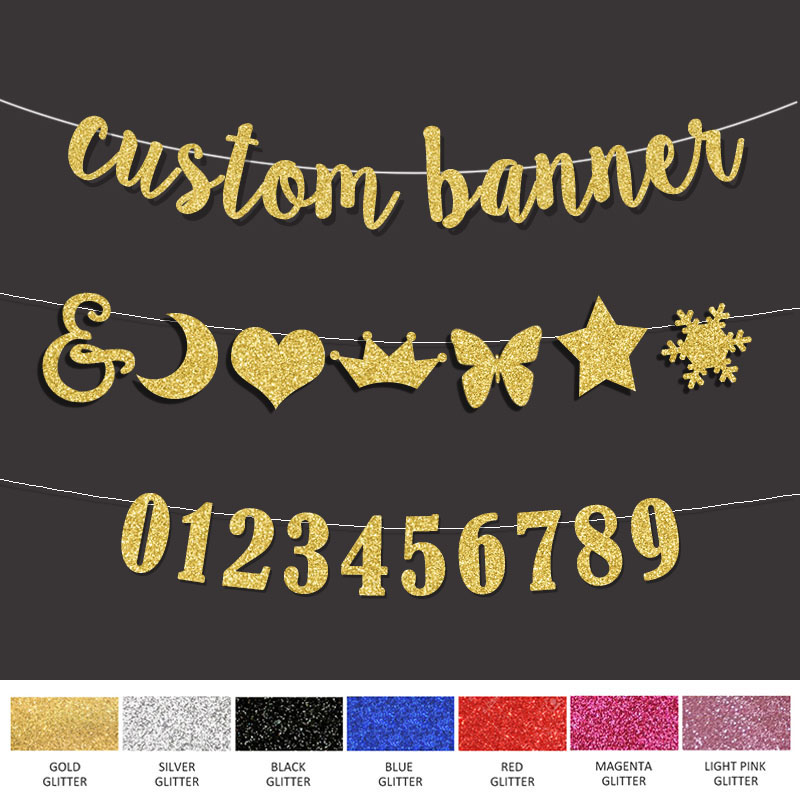 HEN PARTY BANNER ANY SINGLE NAME BLACK AND GOLD