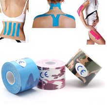5 pieces 5mx5cm Kinesiology Tape,Sports Safety Tape Bandage Strain Injury Support,Waterproof Elastic Physio Kinesio patch(China)
