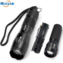 1PCS Portable CREE XML-T6/Mini Q5 LED Torch Zoomable LED Flashlight Aluminum Torch Lights For Outdoor Camping