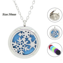 With chain as Gift! New arrival aromatherapy diffuser locket silver magnetic 30mm 316l stainless steel perfume locket necklace(China)